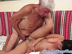 banged-old and young-old man