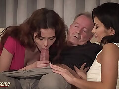 cum-mouth fuck-old and young-party