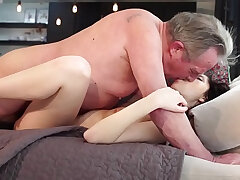 girl-girlfriend-grandpa-old and young