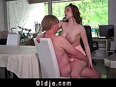 busty girls-old and young-old man-sperm
