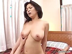 asian-bed-busty girls-cock